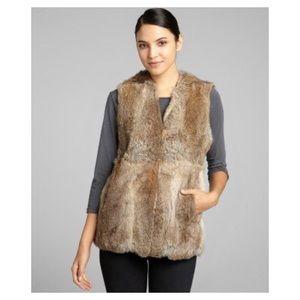 Express 100% rabbit fur vest size m